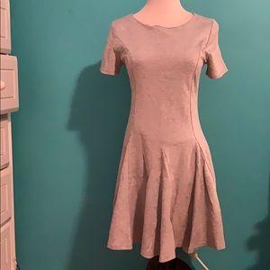Pleated short sleeved dress